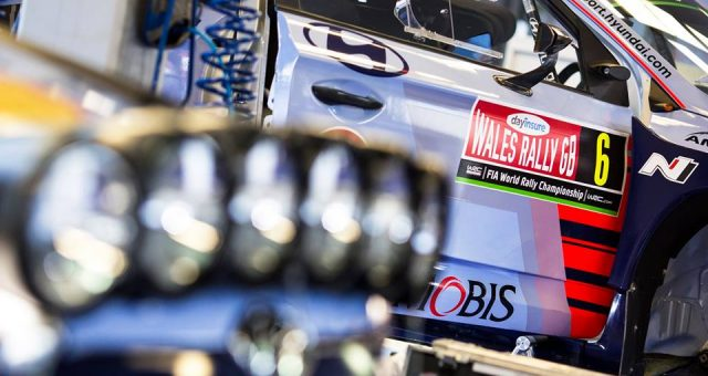 HYUNDAI MOTORSPORT MOVES INTO PODIUM CONTENTION IN WALES RALLY GB