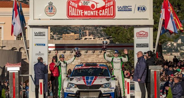 ŠKODA FACTORY TEAM ARCHIEVED A DOMINANT WIN IN WRC 2 CATEGORY AT THE OPENING ROUND OF THE 2018 FIA WORLD RALLY CHAMPIONSHIP (WRC)
